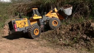 RC CONSTRUCTION l HEAVY RC MACHINES l RC TIPPER AND WHEEL LOADER WORK ON MINE l