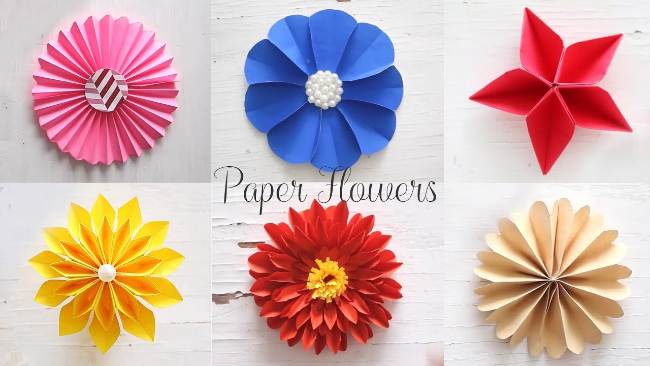 6 easy paper flowers flower making diy youtube youtube premium mightylinksfo