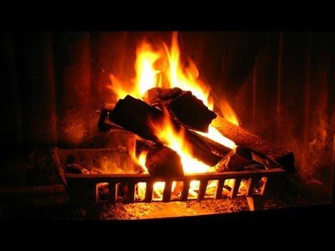 видео горящего камина