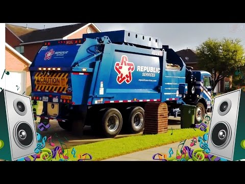 Garbage Truck Song for Kids - Garbage Truck Videos for Children