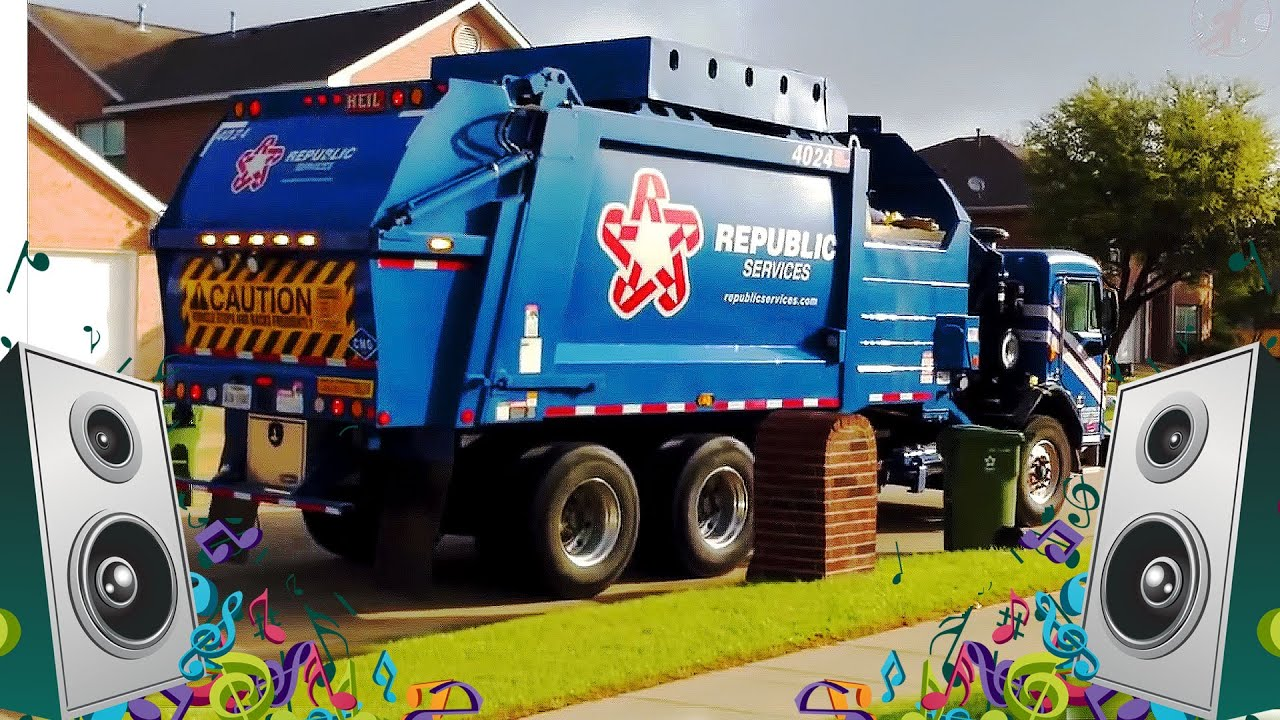 garbage truck song for kids garbage truck videos for children youtube. Black Bedroom Furniture Sets. Home Design Ideas