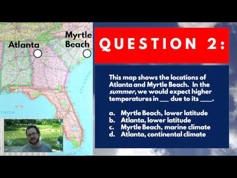 Climate Classification V 2 Got Question 2 WRONG