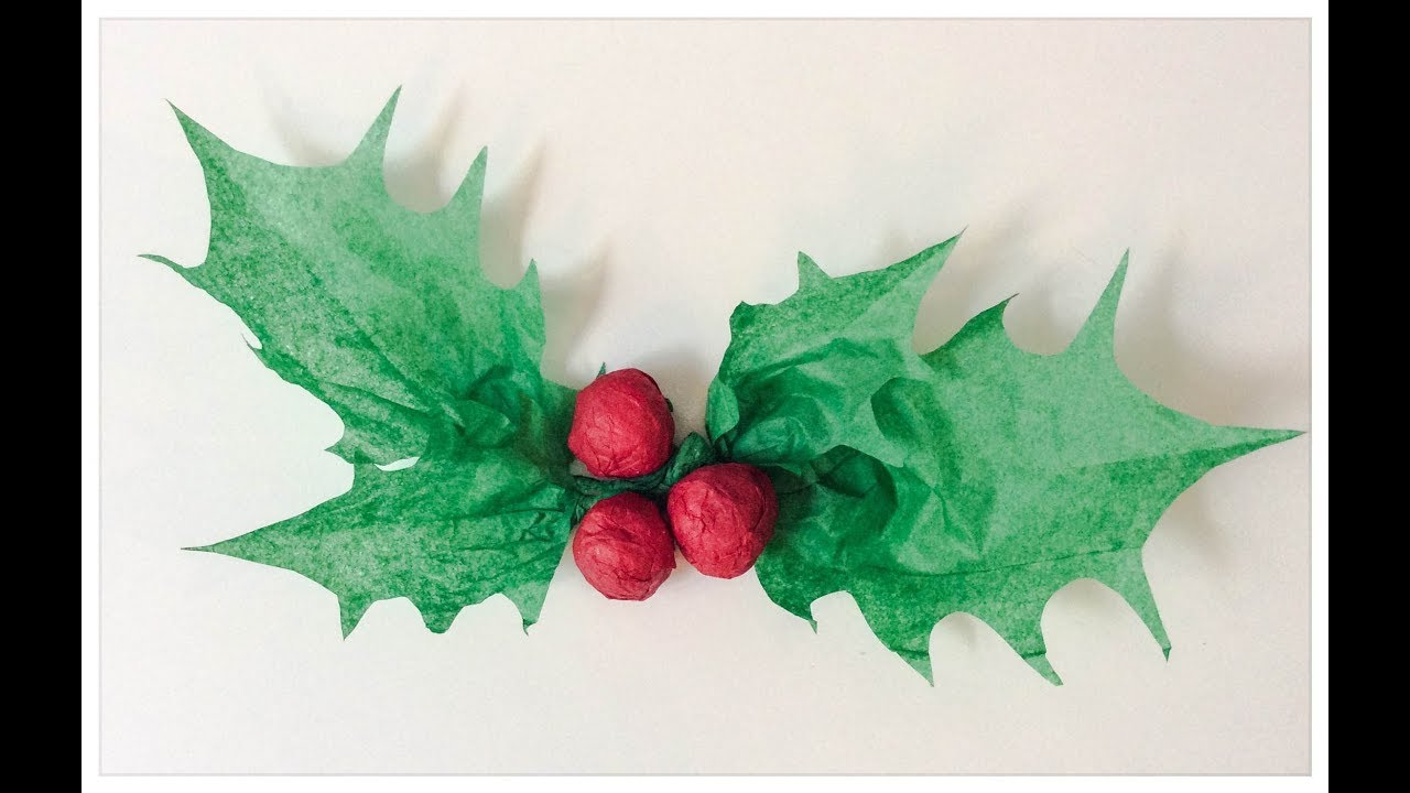 Fabriquer Une Couronne De Houx diy: houx de noël en papier. make the christmas holly.
