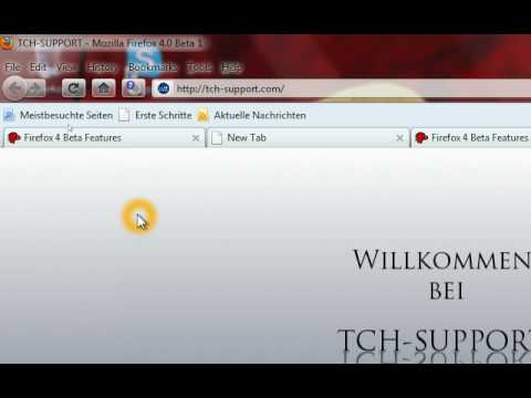 Future of Firefox: Firefox 4 , New Features (Beta 1), english