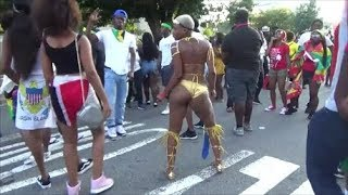 WEST INDIAN LABOR DAY CARNIVAL 2017 BROOKLYN - CARIBBEAN DANCEHALL QUEEN WHINES DANCES TO SOCA MUSIC