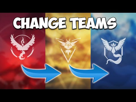 how to change your team in pokemon go