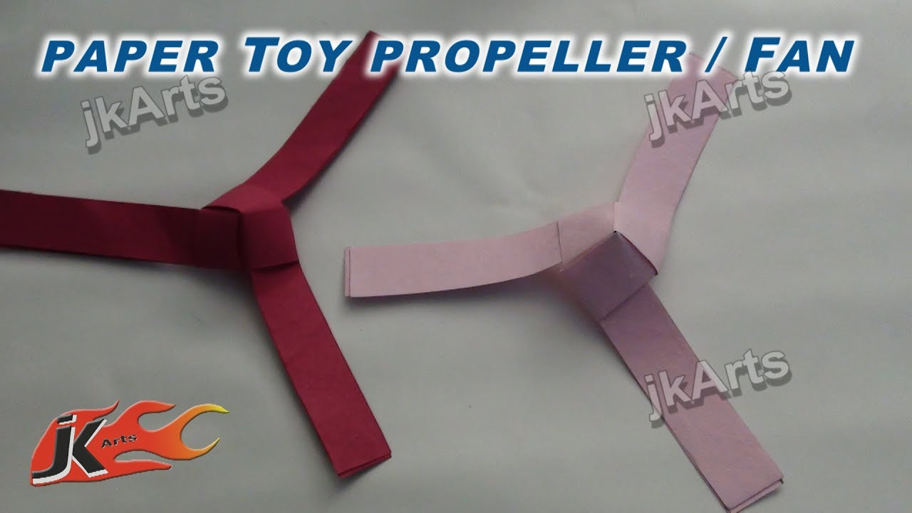 DIY How To Make Paper Toy Fan Propeller
