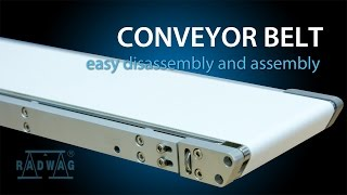 Conveyor belt - easy disassembly and assembly