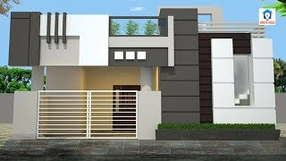 Best Home Elevation Designs For Single Floor   Small Home Front Elevations 3d Designs