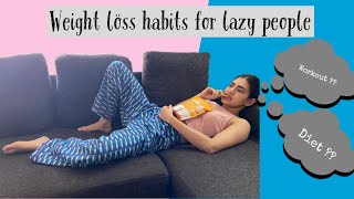 The Ultimate LAZY people guide to weight loss | EASY fitness hacks for lazy & busy folks