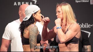 AMANDA NUNES AND HOLLY HOLM FULL UFC 239 WEIGH IN AND FACE OFF