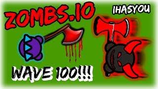 ZOMBS.IO WAVE 100 CHALLENGE!! // PABLO VS NEW DEMON BOSS // Highlights & Funny Moments - iHASYOU