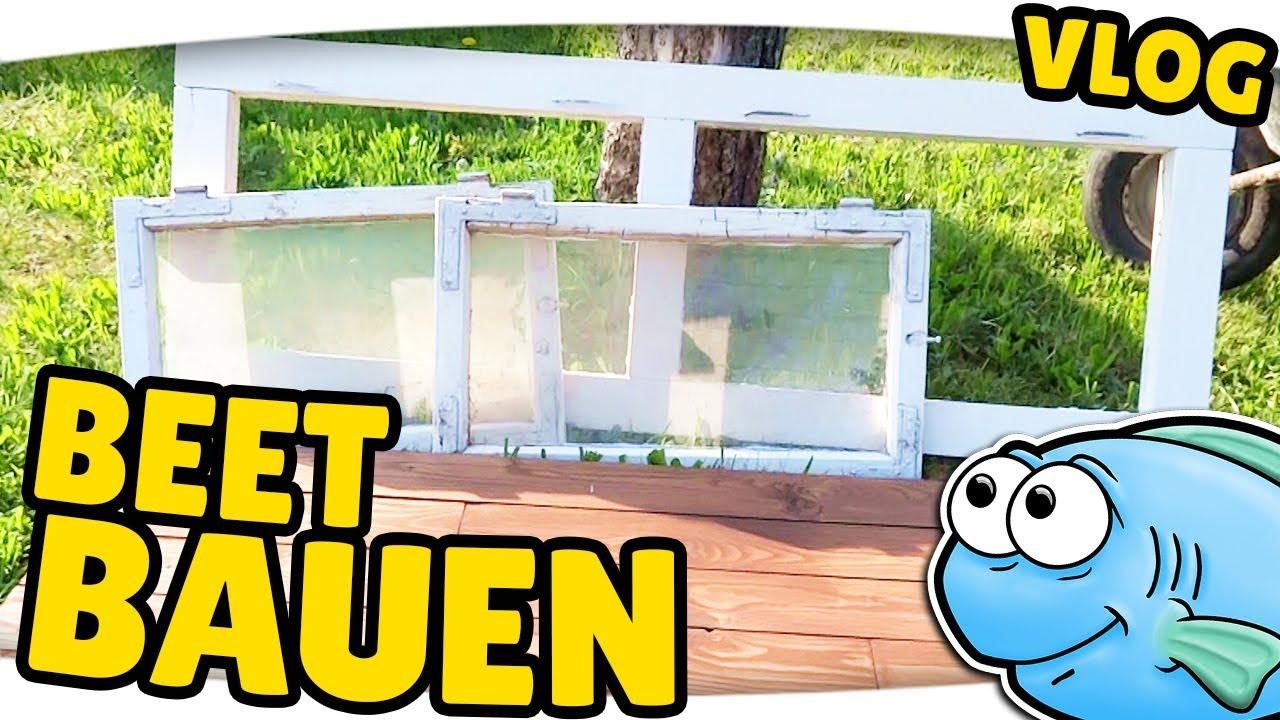 Frühbeet / Hochbeet selber bauen ▻ Garten VLOG - YouTube
