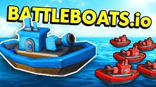 BattleBoats.io - BIGGEST BATTLE BOAT IN THE GAME! (Battle Boats.io Funny Gameplay)