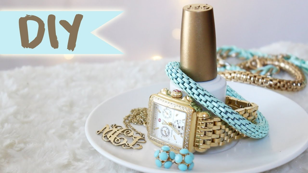 Diy Nail Polish Bottle Jewelry Organizer Youtube