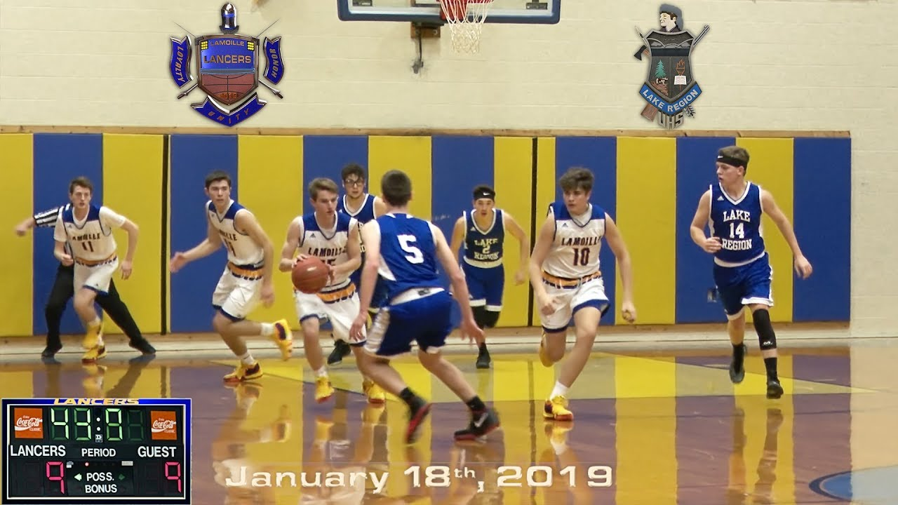 Vermont Lamoille Union High School vs. Lake Region Boys Varsity Basketball Game Video Highlights