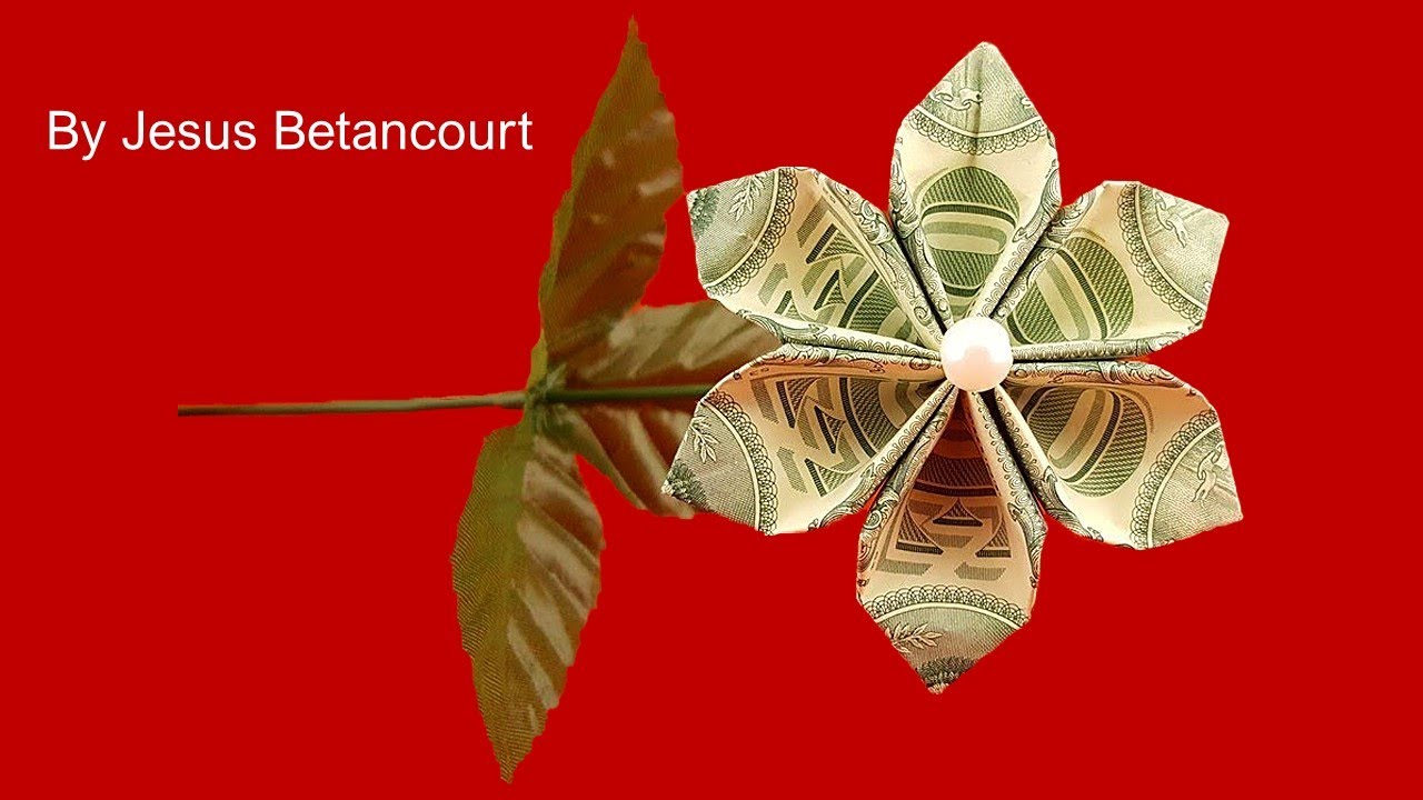 Beautiful 3 Dollar Flower Origami Tutorial Youtube