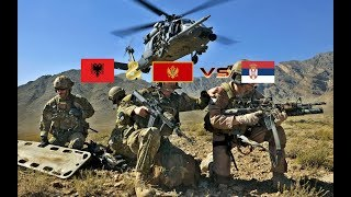 ALBANIA & MONTENEGRO VS SERBIA  Military Power Comparison 2018