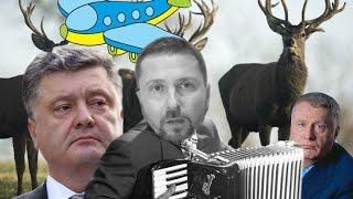 Тысячи флагов Порошенко и юмор о Жириновском