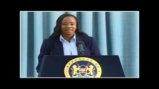 Kanze Dena makes State House debut press briefing on Uhuru plans