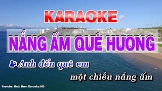 Nắng ấm quê hương karaoke nhạc sống - karaoke nang am que huong song ca