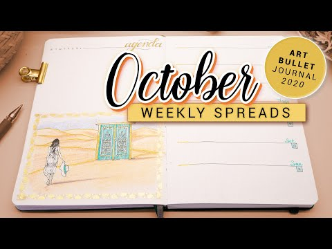 OCTOBER Bullet Journal WEEKLY 2020 Oman Bullet Journey PLAN WITH ME