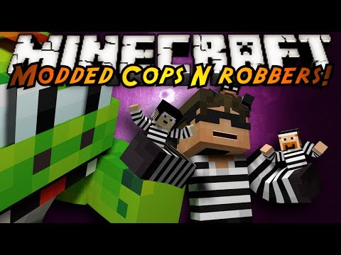 Minecraft Mini-Game : MODDED COPS N ROBBERS! GULLIVERS!