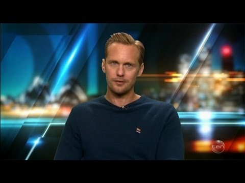 "Alexander Skarsgard  - The Legend of Tarzan & ""Kissing"" Australian Tv Interview June 14 2016"