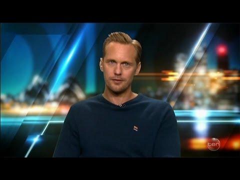"Alexander Skarsgard  - The Legend of Tarzan & ""Kissing"" Australian Tv Interview June 14 2016"