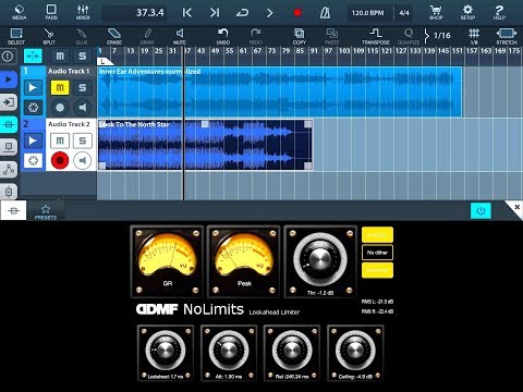DDMF - NO LIMITS AUv3 Limiter - Demo And Tutorial For The IPad