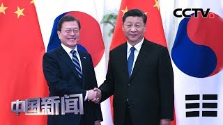 [中国新闻] 习近平会见韩国总统文在寅 | CCTV中文国际