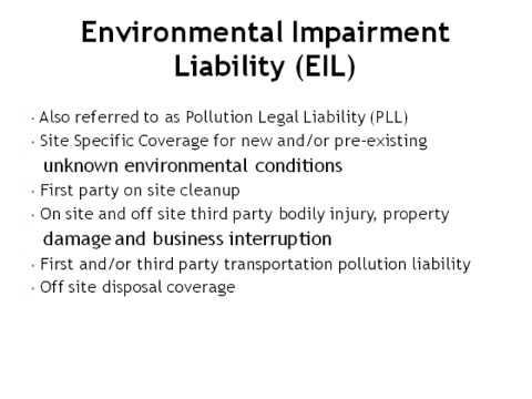 Environmental Impairment Liability