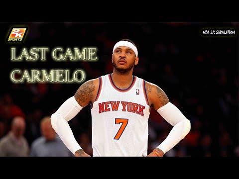 New York Knicks vs Boston Celtics | LAST GAME CARMELO | NBA 2K18