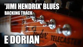 'Jimi Hendrix' Blues Rock Guitar Backing Track In E Dorian / E Minor Pentatonic