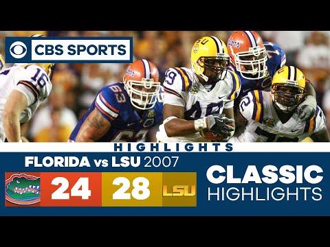 Florida vs LSU 2007   SEC Classic Highlights  CBS Sports HQ
