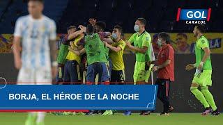 Colombia vs Argentina: gol de Miguel Ángel Borja cabezazo para empatar el partido