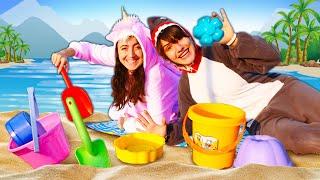 Видео приколы онлайн - Милая Единорожка и Акула на пляже! - Весёлые игры одевалки для девочек