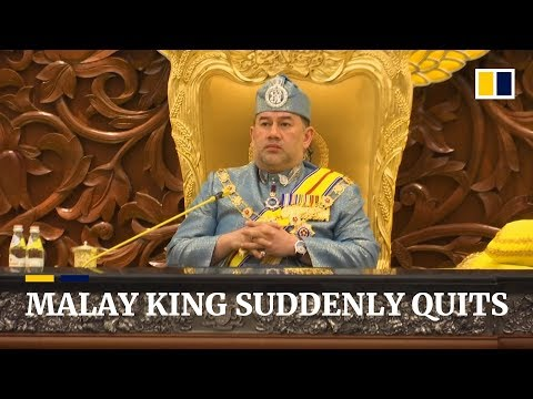 Malaysia's king suddenly quits