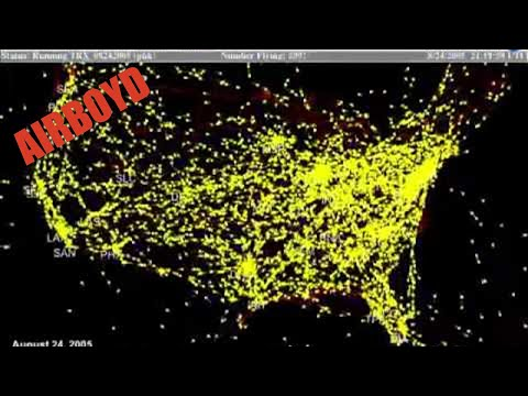 A Day in the Life of Air Traffic Over the United States   YouTube