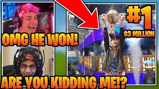 SEN BUGHA *WINS* Fortnite World Cup *SOLO* Final ($3,000,000)