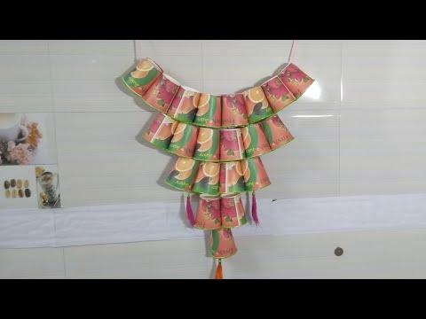 Paper Glass wall Hanging craft..!! Diy wall Decoration ..!! Diy..!!