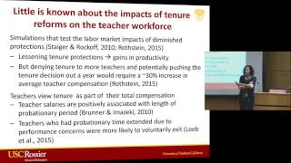 Katharine Strunk: The impacts of tenure reforms on the teacher workforce