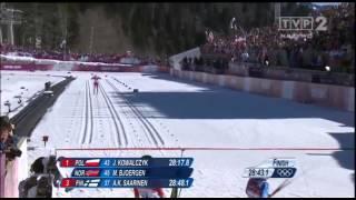 IO Soczi: 10km st.klsycznym (końcówka) - Złoto Justyny Kowalczyk