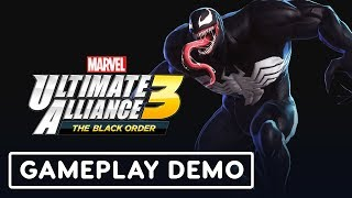 Marvel Ultimate Alliance 3 Gameplay (Venom, Deadpool, Wolverine) - IGN LIVE   E3 2019