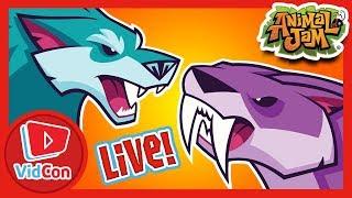 Team Direwolf vs Team Sabertooth Championship LIVE from VidCon! | Animal Jam & Play Wild
