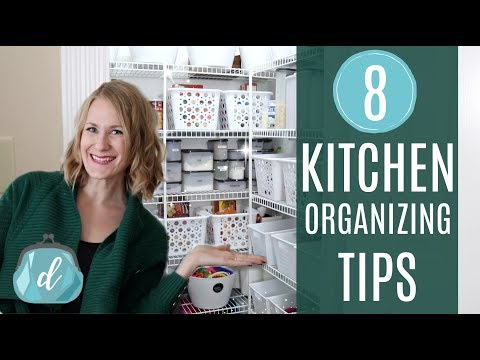CREATIVE KITCHEN ORGANIZING IDEAS! 💙 Dollar Tree, Pantry, DIY Mudroom, Meal Planning, & More!