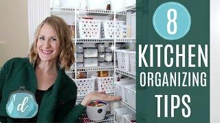 CREATIVE KITCHEN ORGANIZING IDEAS! 💙 Dollar Tree, Pantry, DIY Mudroom, Meal Planning, & More!