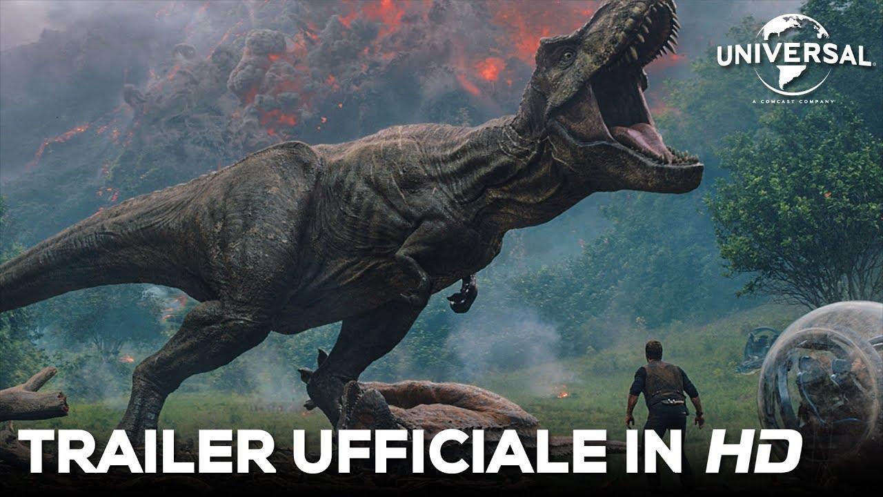 Jurassic world il regno distrutto primo trailer ufficiale