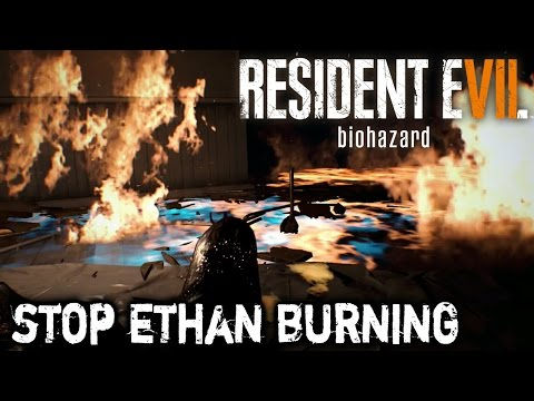 Resident Evil 7 - How to Stop Ethan Burning on Fire (Cake Puzzle)
