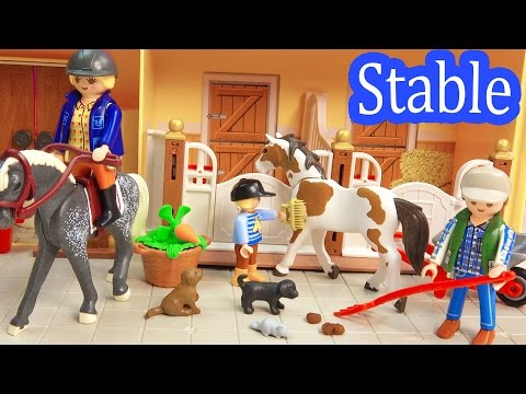 Thumbnail: Playmobil Country Take Along Family Horse Stable Barn Farm with Playdoh Fun 5348 Toy Review Unboxing
